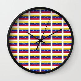 Flag of Venezuela-Venezuela,venezuelan,Venezolano,caracas,maracaibo. Wall Clock