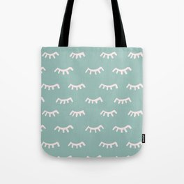 Mint Sleeping Eyes Of Wisdom - Pattern - Mix & Match With Simplicity Of Life Tote Bag