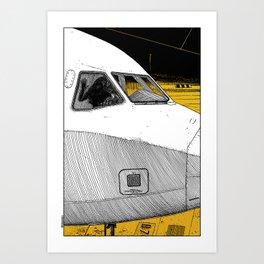 asc 698 - Le tarmac la nuit (Your flight was delayed due to technical problems) Art Print