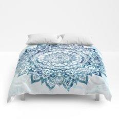 BLUE JEWEL MANDALA Comforters