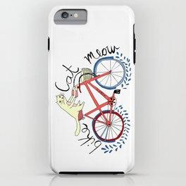 bike,cat, meow iPhone Case