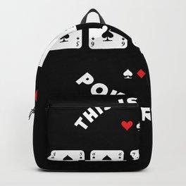Lucky Poker Shirt | Funny Gambling Gift Backpack