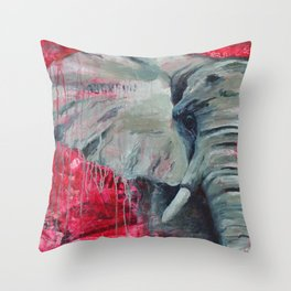 A Shade of Red Throw Pillow