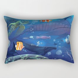 Giants of the Deep Rectangular Pillow