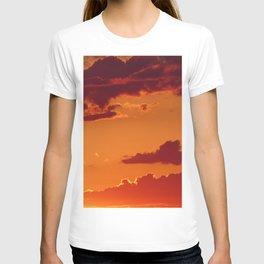 Orange sunset sky T-shirt