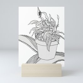 Drawing Peace Lily Mini Art Print