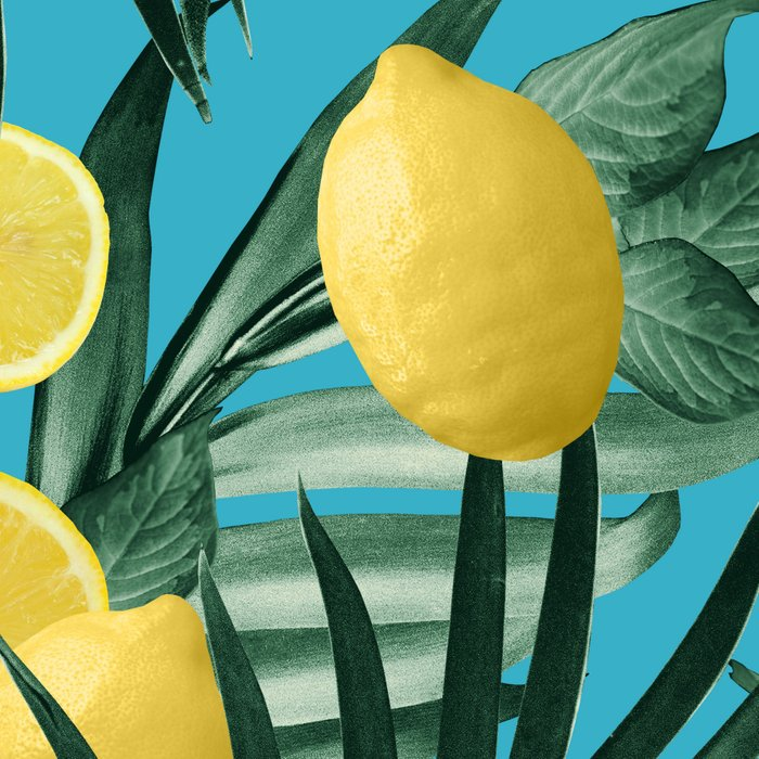 Summer Lemon Twist Jungle #4 #tropical #decor #art #society6 Leggings