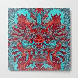 Bali Blue Metal Print