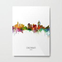 Cincinnati Ohio Skyline Metal Print