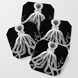 Octopus | Vintage Octopus | Tentacles | Black and White | Coaster