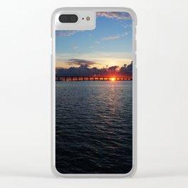 Key Largo, Florida Sunrise Clear iPhone Case