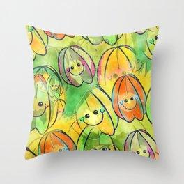 Starfruit Watercolor Throw Pillow