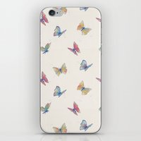 butterflies iPhone & iPod Skins featuring Butterflies by Tracie Andrews