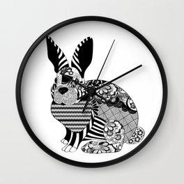 Rabbit floral Wall Clock