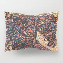 Abstract Horse Digital Ink Pollock Style Pillow Sham
