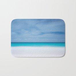 Tropical paradise beach turquoise sea ocean nature travel hipster Caribbean Fiji horizon photograph Bath Mat