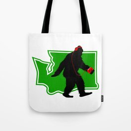 Bigfoot walk in Washington Tote Bag