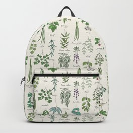 Herbs Collection Pattern Backpack