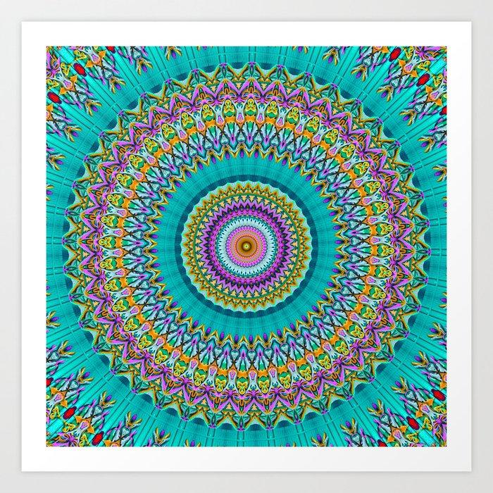 dreaming mandala Art Print