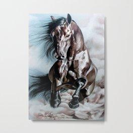 Horse in Run Metal Print