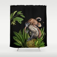 monkey Shower Curtains featuring Monkey by Fifikoussout