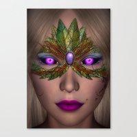 shiba Canvas Prints featuring Shiba Eyes by Brian Raggatt