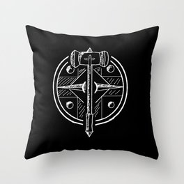 Hammer and Shield Throw Pillow