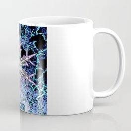 GRAPHIC WINTER SNOWFLAKE PEN & INK DRAWING Coffee Mug