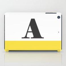 Monogram Letter A-Pantone-Buttercup iPad Case