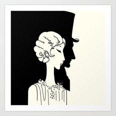 Deco Couple Art Print