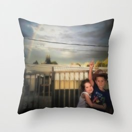 Touch the Rainbow Throw Pillow