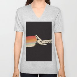 Spaceship - Rainbow Unisex V-Neck