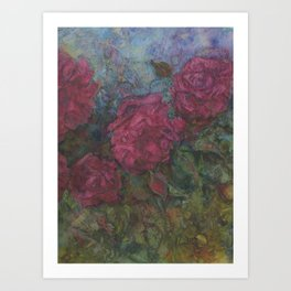 roses are red....or burgundy Art Print