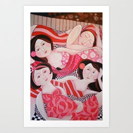 The Red Tent Art Print