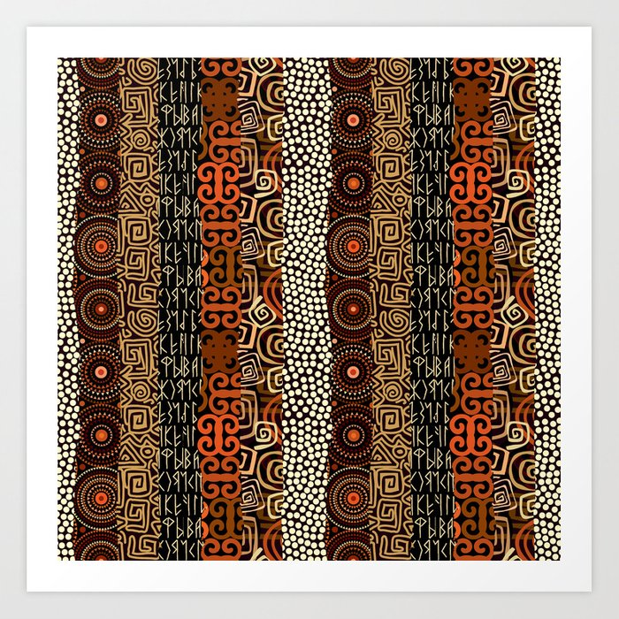 Geometric African Pattern Art Print