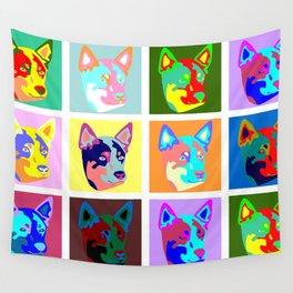 Australian Cattle Dog Pop Art Wall Tapestry