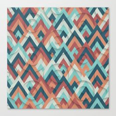 geometric vintage 70s Canvas Print
