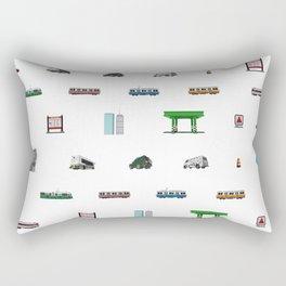 Boston Pixel Pattern Rectangular Pillow