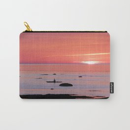 Kayaker and Bird at Last Light Carry-All Pouch