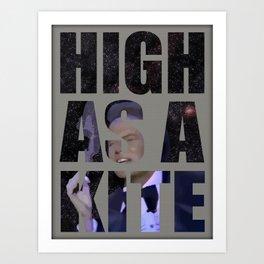 Shatner sings Rocket Man Art Print