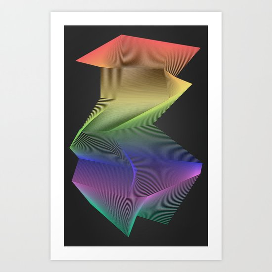 Angular Rainbow Art Print