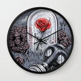 The Last Flower On Earth Wall Clock