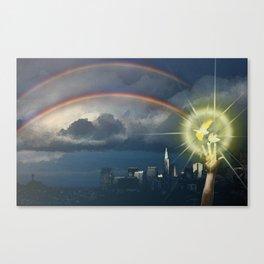 Broken Rainbow Canvas Print