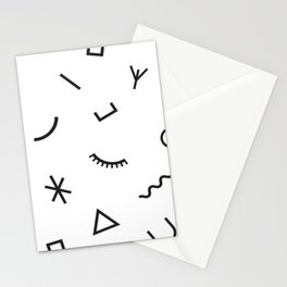 Nympho pattern Stationery Cards