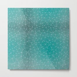 Triangulated Marrs Green Dotted Pattern Metal Print