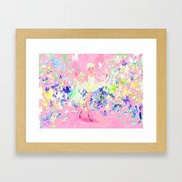 Butterflies dress petal pink Framed Art Print