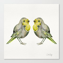Little Yellow Birds Canvas Print