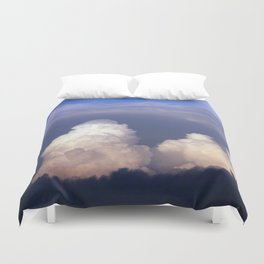 Cloud towers in the Sky -  cumulonimbus Duvet Cover