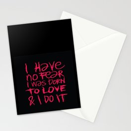 I have no fear - Emilie Record Stationery Cards