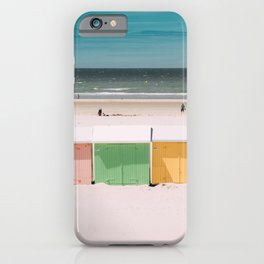 Beach Cabins North Sea iPhone Case